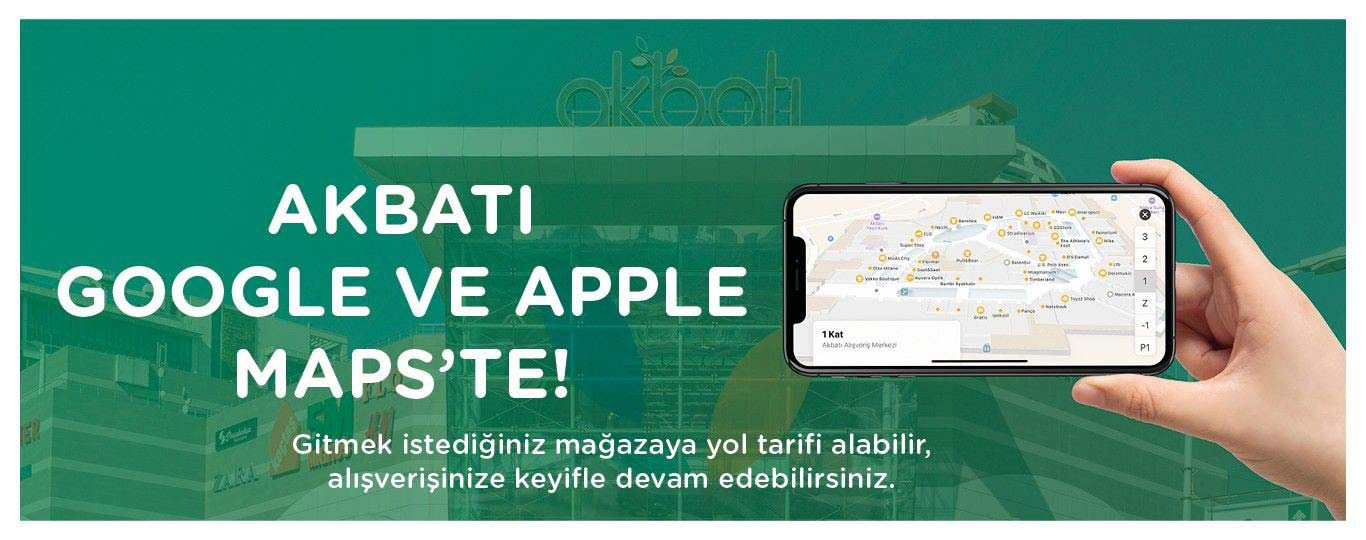 Akbatı Google ve Apple Maps'te